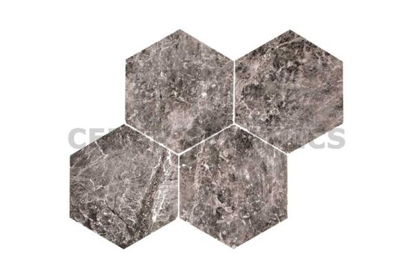 Silver Moon Hexagon Tile